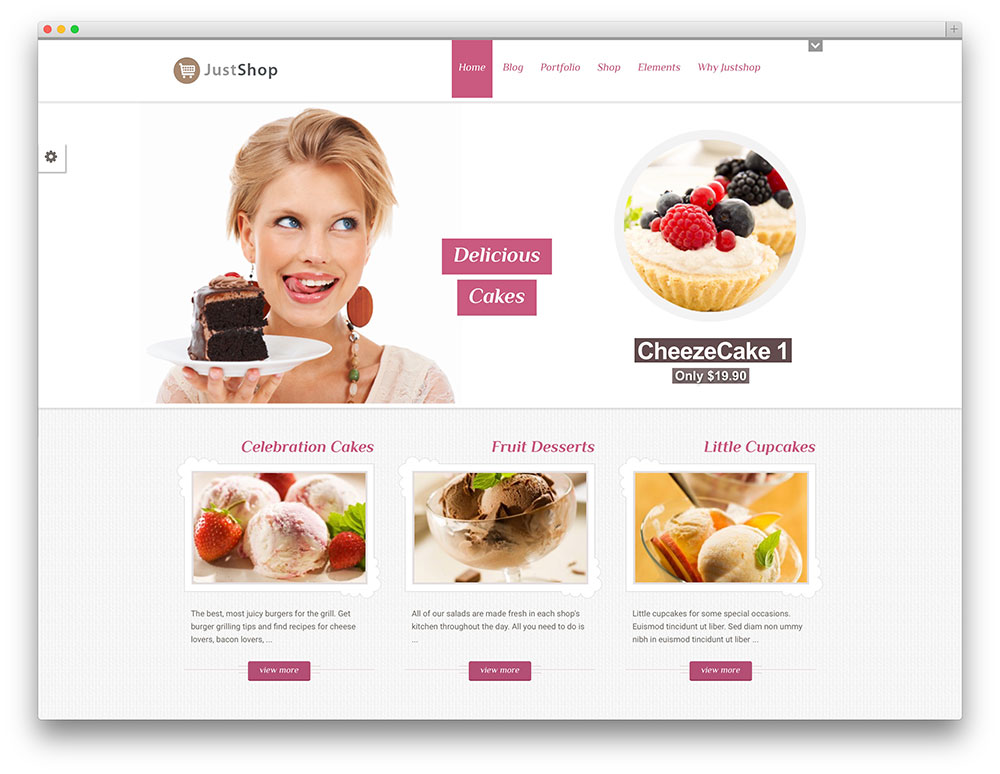 Bakery Website Sample Web Design