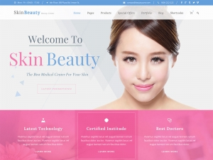 Beauty Therapy Website Sample Web Design
