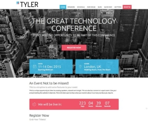 Conference Booking Sample Web Design