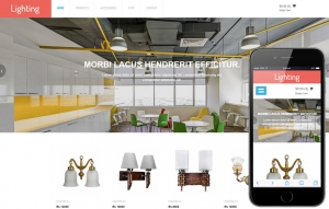 Lighting Sale Website Sample Web Design