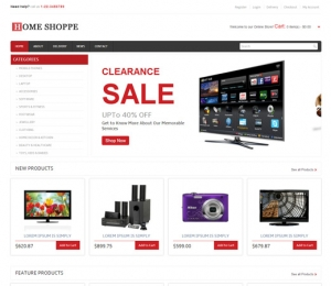 Online Sale Website Sample Web Design