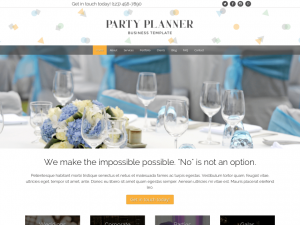 Party Planner Website Sample Web Design