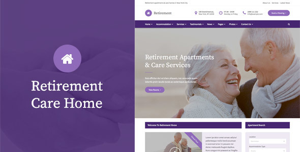 Retirement Home Website Sample Web Design
