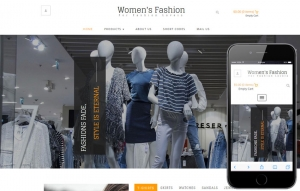 Womes's Fashion Website Sample Web Design