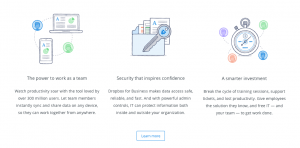 Dropbox illustration - Website trends